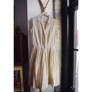 Vintage 1950s Light Beige Dress